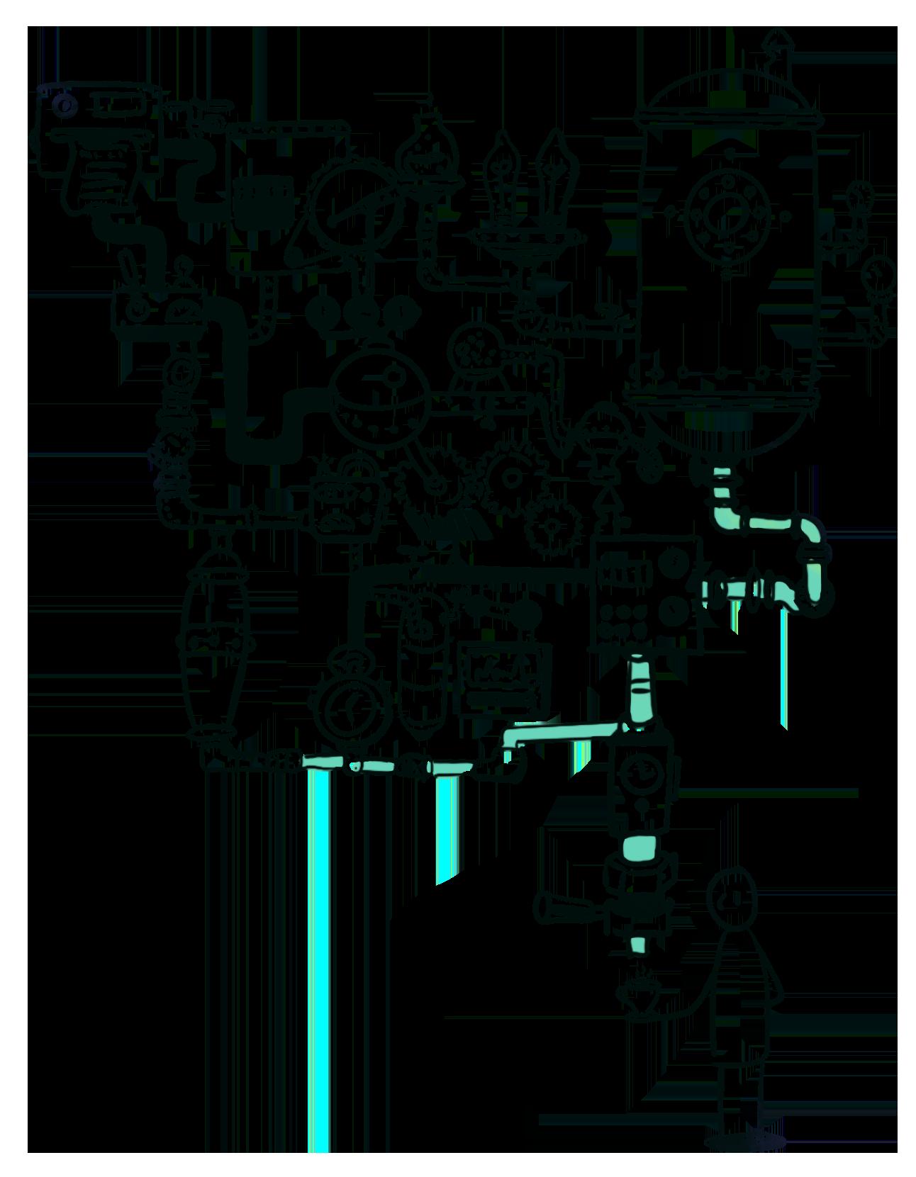 illustration machine